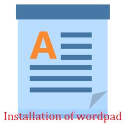 Wordpad Installation In Hindi